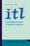 image of ITL - International Journal of Applied Linguistics