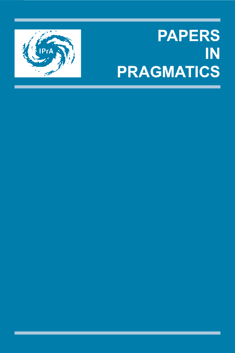 image of IPrA Papers in Pragmatics