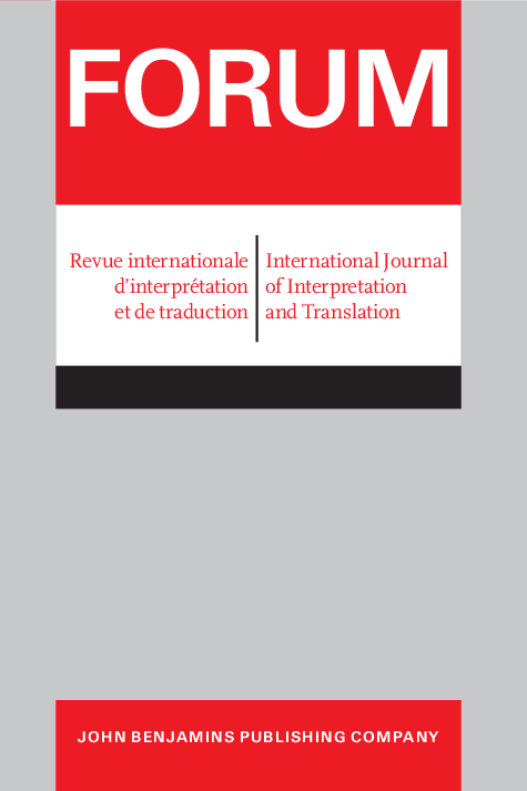 image of FORUM. Revue internationale d'interprétation et de traduction / International Journal of Interpretation and Translation
