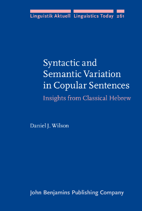 image of Syntactic and Semantic Variation in Copular Sentences