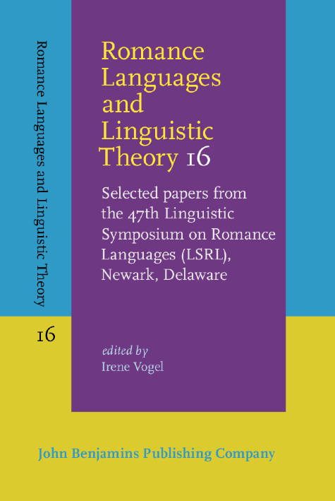 image of Romance Languages and Linguistic Theory 16