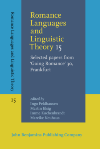 image of Romance Languages and Linguistic Theory 15
