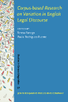 image of Corpus-based Research on Variation in English Legal Discourse