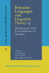 image of Romance Languages and Linguistic Theory 13