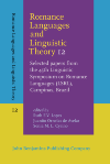 image of Romance Languages and Linguistic Theory 12