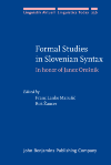 image of Formal Studies in Slovenian Syntax
