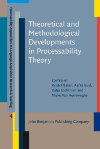 image of Theoretical and Methodological Developments in Processability Theory