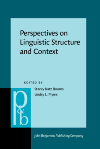 image of Perspectives on Linguistic Structure and Context
