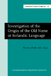 image of Investigation of the Origin of the Old Norse or Icelandic Language