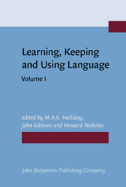 image of Learning, Keeping and Using Language