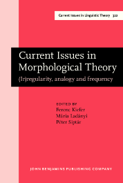 image of Current Issues in Morphological Theory