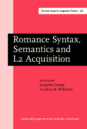 image of Romance Syntax, Semantics and L2 Acquisition