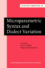 image of Microparametric Syntax and Dialect Variation