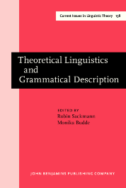 image of Theoretical Linguistics and Grammatical Description