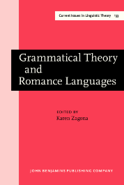 image of Grammatical Theory and Romance Languages