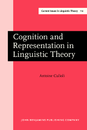 image of Cognition and Representation in Linguistic Theory
