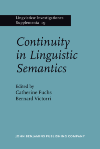 image of Continuity in Linguistic Semantics