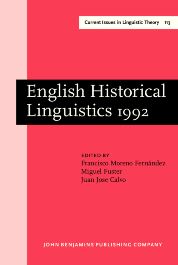 image of English Historical Linguistics 1992