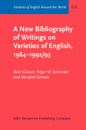 image of A New Bibliography of Writings on Varieties of English, 1984–1992/93