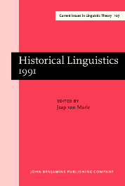 image of Historical Linguistics 1991