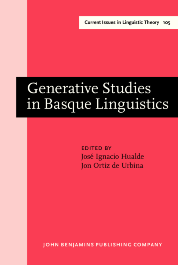 image of Generative Studies in Basque Linguistics