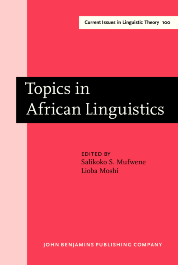 image of Topics in African Linguistics