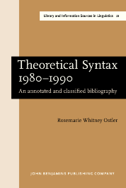 image of Theoretical Syntax 1980–1990
