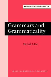 image of Grammars and Grammaticality