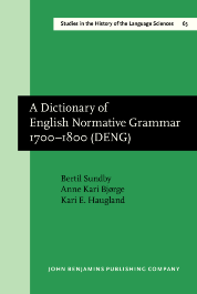 image of A Dictionary of English Normative Grammar 1700–1800 (DENG)