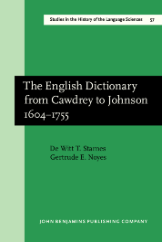 image of The English Dictionary from Cawdrey to Johnson 1604–1755