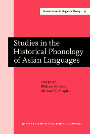image of Studies in the Historical Phonology of Asian Languages