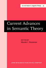 image of Current Advances in Semantic Theory