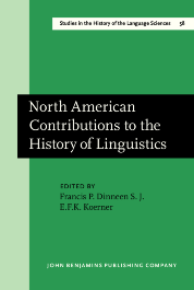 image of North American Contributions to the History of Linguistics