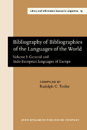 image of Bibliography of Bibliographies of the Languages of the World