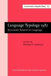 image of Language Typology 1987
