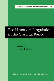 image of The History of Linguistics in the Classical Period