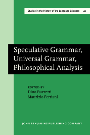 image of Speculative Grammar, Universal Grammar, Philosophical Analysis