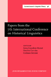 image of Papers from the 7th International Conference on Historical Linguistics