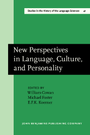 image of New Perspectives in Language, Culture, and Personality