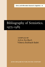 image of Bibliography of Semiotics, 1975–1985