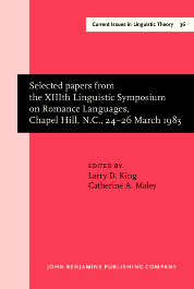 image of Selected papers from the XIIIth Linguistic Symposium on Romance
