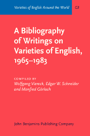 image of A Bibliography of Writings on Varieties of English, 1965–1983