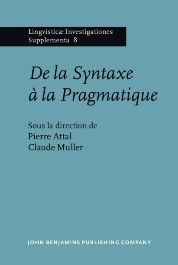 image of De la Syntaxe à la Pragmatique