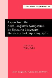 image of Papers from the XIIth Linguistic Symposium on Romance Languages, University Park, April 1–3, 1982