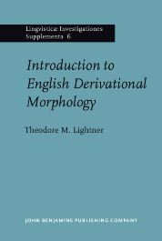 image of Introduction to English Derivational Morphology