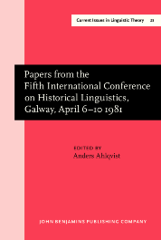 image of Papers from the Fifth International Conference on Historical Linguistics, Galway, April 6–10 1981