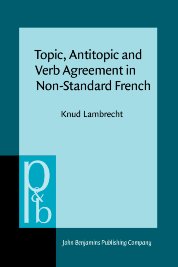 image of Topic, Antitopic and Verb Agreement in Non-Standard French