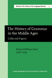 image of The History of Grammar in the Middle Ages