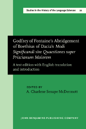 image of Godfrey of Fontaine's Abridgement of Boethius of Dacia's <i>Modi Significandi sive Quaestiones super Priscianum Maiorem</i>