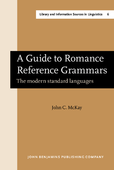 image of A Guide to Romance Reference Grammars